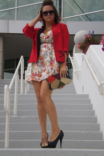 faith 21 dress - Secondhand blazer - Vintage from parkerhawncom accessories - Pl