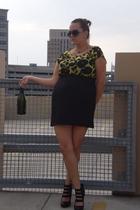 faith 21 dress - vintage necklace - Platos Closet sunglasses - Aldo shoes