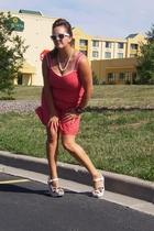Secondhand dress - Secondhand necklace - Etsy bracelet - Platos Closet sunglasse