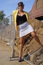 Secondhand blazer - Ebay intimate - Old Navy skirt - Ebay glasses - Diane Von Fu