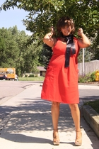 thrifted dress - self made from ribbon accessories - parkerhawncom accessories -