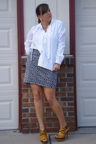 faith 21 skirt - secondhand moms blouse - Secondhand earrings - Urbanogcom shoes