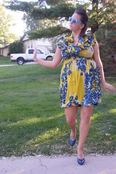faith 21 dress - Claudia Ciuti shoes - Forever 21 sunglasses