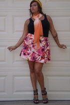 faith 21 skirt - Old Navy shirt - The Limited scarf - miscusi  etsy hat - Aldo s