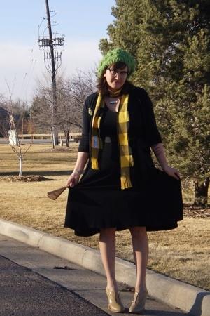 Victorias Secret dress - kohls sweater - Amana Colonies Iowa scarf - Target hat