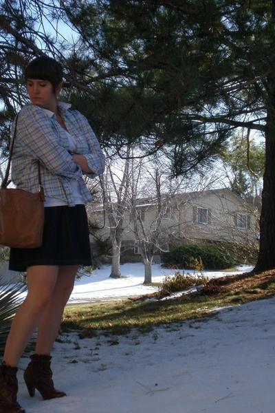 Old Navy skirt - vintage from moms closet blouse - Ebay shoes - vintage from gar