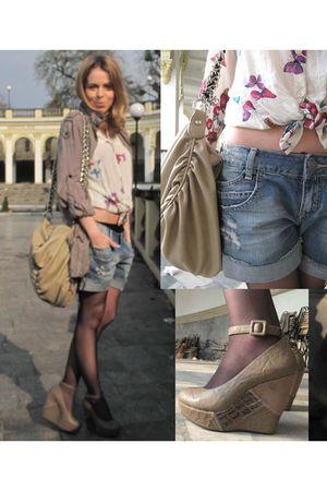 Zara blouse - vintage jacket - Zara jeans - Zara accessories