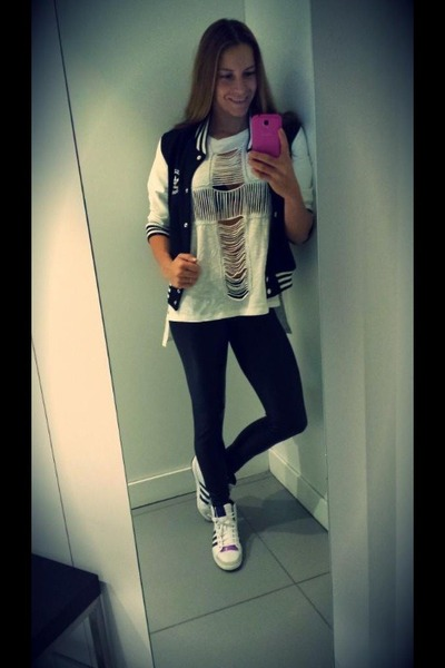 Addidas jacket - BSB leggings - Rehab top - Addidas sneakers