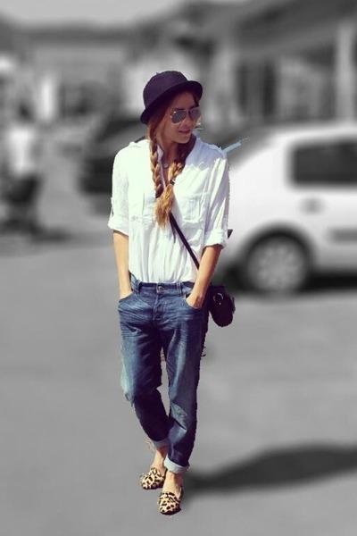 Diesel jeans - asos hat - pull&bear shirt - ghivency bag - dune loafers
