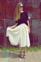 H&M skirt - H&M jumper - Mango heels