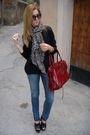 Black-zara-shoes-balenciaga-accessories-h-m-scarf