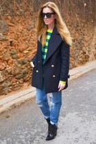 Zara coat - asos jeans - asos jumper