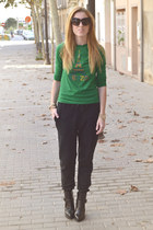Kenzo jumper - Zara boots - house of harlow sunglasses - acne pants