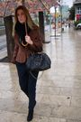 Brown-vintage-jacket-zara-pants-black-marc-jacobs-accessories