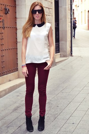 Stradivarius pants - asos boots - BLANCO shirt - Lanvin for H&M sunglasses