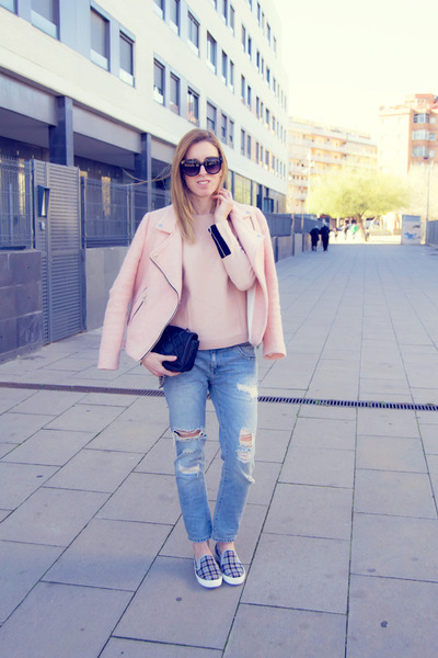 Zara jeans - Stradivarius jacket - & other stories jumper - Topshop flats