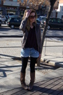 Purple-mango-sweater-brown-fridays-project-jacket-blue-forever21-shorts-bl