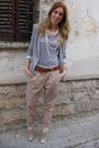 Beige-zara-pants-beige-forever-21-shoes-silver-h-m-t-shirt