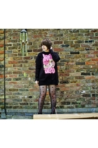 Drop Dead sweater - stockings - boots