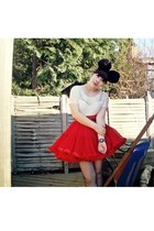 black pompoms Bitching and Junkfood accessories - cream lace vintage bodysuit