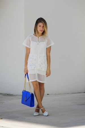 white dress Style Mafia dress - handbag Yves Saint Laurent bag - pumps Tibi bag