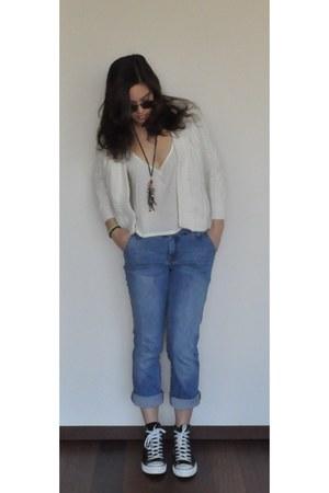 Mango jeans - pull&bear sunglasses - Lanidor blouse - Massimo Dutti top - Conver