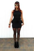 black apricot dress