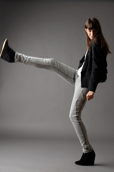 black Zara shoes - silver H&M jeans - black Massimo Dutti jacket - white H&M t-s