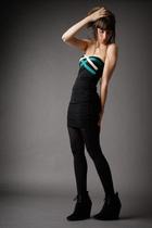 black Zara shoes - green H&M dress