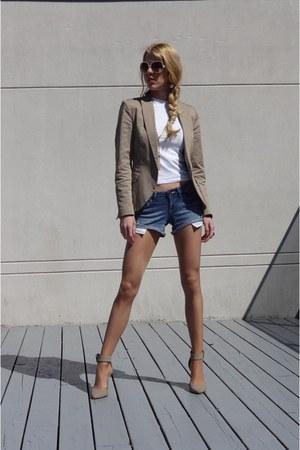 Zara blazer - Dynamite shorts - Aldo glasses