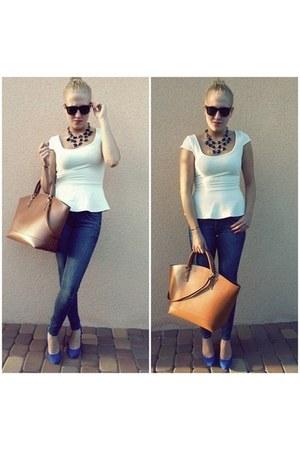 Bershka blouse - Zara bag