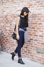 Black-ankle-boots-acne-boots-navy-high-waisted-zara-jeans