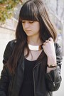 Gold-cuff-bracelet-black-maxi-dress-black-leather-jacket-gold-necklace