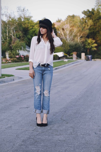 White Blouse And Blue Jeans 25