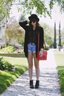 Red-bag-black-polka-dot-blouse