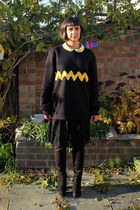yellow H by Henry Holland shirt - black Ebay boots