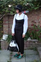 black maxi dress charity shop dress - green Miista shoes