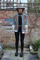 black vagabond boots - mustard leopard print Topshop hat