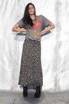 vintage skirt - slayer vintage t-shirt
