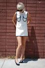 White-vintage-dress-blue-brooks-brothers-shoes-black-forever-21-sunglasses