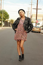 Black-vintage-jacket-pink-vintage-dress-black-vintage-boots-black-vintage-