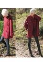 Red-vintage-from-castaway-vintage-jacket-blue-cheap-monday-jeans-black-justi