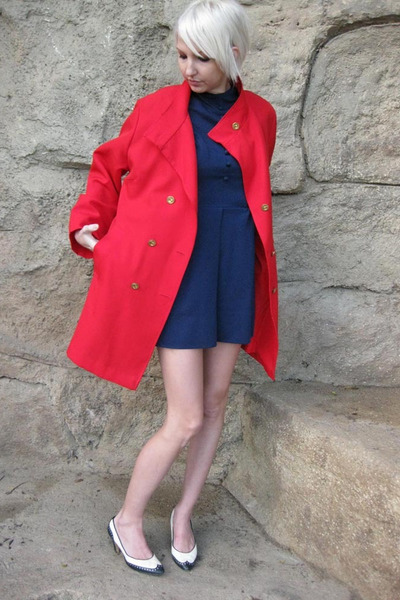 Red Npc Fashions Jacket Blue Vintage Dress White Shoes