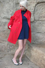Red-npc-fashions-jacket-blue-vintage-dress-white-vintage-shoes