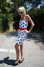 White-vintage-dress-red-h-m-belt-black-vintage-shoes-black-urban-outfitter