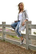 navy Current Elliott jeans - silver H&M jacket - charcoal gray Converse sneakers