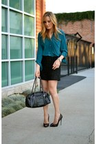 black Chanel bag - black tweed Forever 21 skirt - black lace Jimmy Choo heels