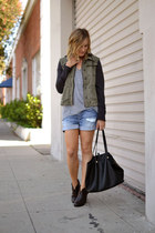 twill free people jacket - ankle rag & bone boots
