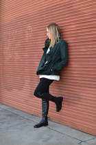 stuart weitzman boots - citizens of humanity jeans - milly jacket - Zara blouse