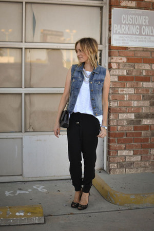 tank top Current Elliott shirt - Chanel bag - Forever 21 pants